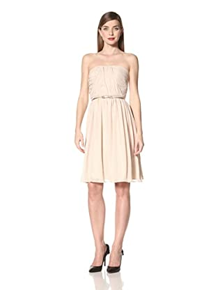Donna Morgan Women's Strapless Dress with Ruched Bodice (Gold)
