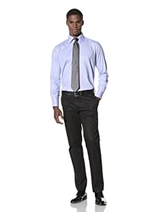 Valentino Men's Dress Shirt (Light Blue Pattern)