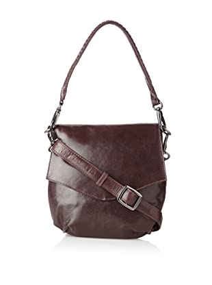 Latico Women's Petra Front Flap Cross-Body, Aubergine