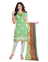 atisundar elegant Light Green Traditional Embroidered Unstitched Salwar Suit- 5690_40_8014