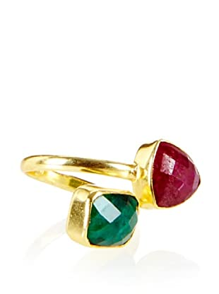 Charlene K Double Gemstone Ring