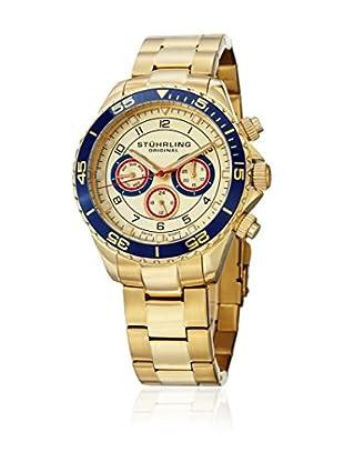 Stührling Uhr mit Schweizer Quarzuhrwerk Aquadiver 643 goldfarben 42 mm