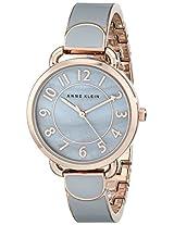 Anne Klein Womens AK/1606RGGY Easy To Read Grey Dial Bangle Watch