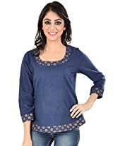 Mangalgiri Cotton Block Printed Top-S