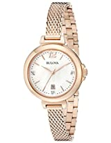 Bulova Diamond Analog Mother of Pearl Dial Women's Watch - 97P108