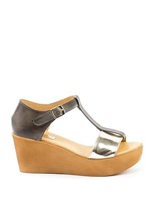 Misu Keil-Sandalette Astra (Silber)