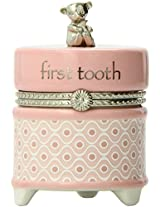Nat and Jules First Tooth Keepsake Box, Pink