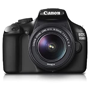 Canon EOS 1100D 12MP Digital SLR Camera (Black) with EF-S 18-55 IS + EF-S 55-250 IS Twin Lens Kit, 4GB SD Card, Camera Bag