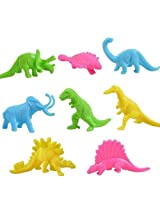 Goodlucky365 Plastic Colorful Assorted Mini Dinosaur Animals Small Figure Toy Model Pack Of 32