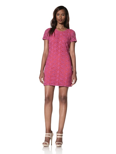 Dallin Chase Women's Rasmus Fitted Short Sleeve Dress (Pink)