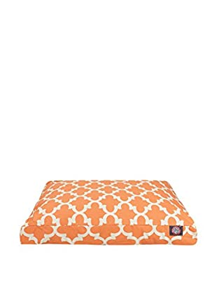 Trellis Small Rectangle Pet Bed, Peach