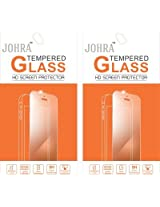 Johra Pack of 2 Tempered Glass Screen Scratch Guard Protector For Motorola Moto G2 4G