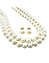 Sri Jagdamba and Pearls 22k Yellow Gold and Pearl Chain Necklace