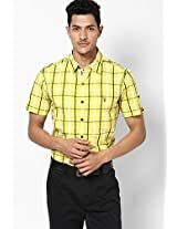 Checks Yellow Casual Shirt Mufti
