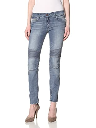 Rockstar Denim Women's Biker Denim Skinny Jeans (Light Clean Wash)