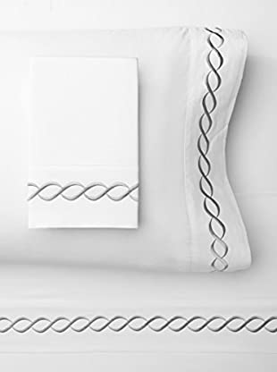 Mélange Home Rope Embroidered Egyptian Cotton Sheet Set