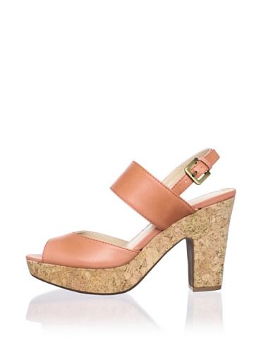 Adrienne Vittadini Women's Yancy Platform Sandal (Coral)