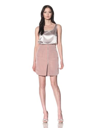 Bibhu Mohapatra Women's Zip Front Skirt (Dusty Rose)