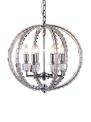 Urban Lights Cristal 6-Light Pendant Lamp, Polished Nickel
