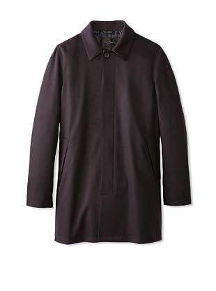 Calvin Klein Collection Men's Hidden Placket Over Coat (Navy)