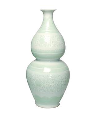 Emissary Ceramic Gourd Vase (Celadon)