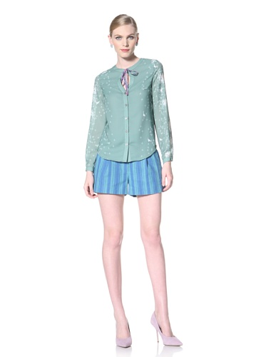 Timo Weiland Women's Tie-Up Top (Coastal Floral Print)
