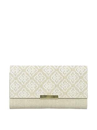 Marina Vaptzarov Linen Soft Cover Clutch Journal with Brass Button, Natural