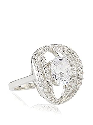 CZ by Kenneth Jay Lane 6 Cttw Oval/Round CZ Ring