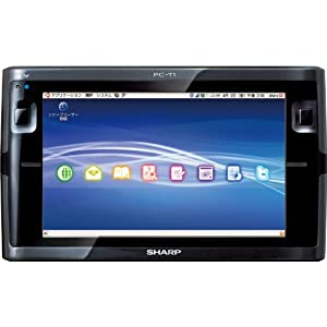 SHARP Net Walker (ネットウォーカー) モバイルインターネットツール ブラック系 PC-T1-B