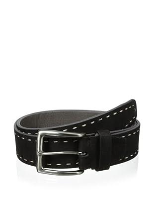 Bolliver Men's Border Stitch Belt (Black/Grey)
