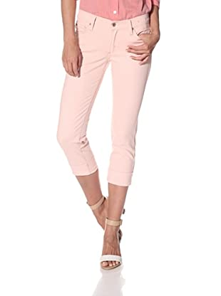 James Jeans Women's Cori Cuffed Capri (Pink Blush)
