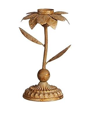 Concept Luxury Kerzenhalter Flower goldfarben