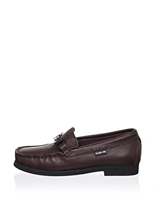 Pliner Jrs Parker Loafer (Brown Pebbled)