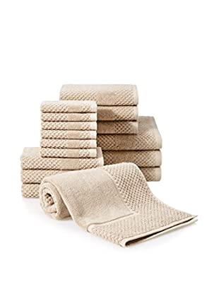Chortex Honeycomb 16-Piece Towel Set, Flax