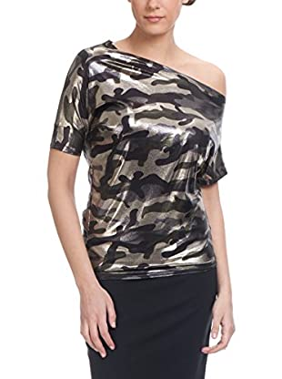 Tantra Bluse Camouflage With Irregular Neck