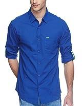 SPYKAR Men Cotton R.Blue Casual Shirt (XX-Large)