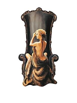 ArtopWeb Panel de Madera Di Scenza Seated Beauty