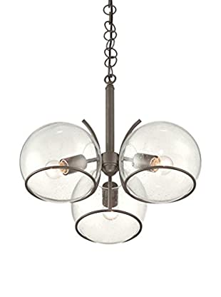 Varaluz Watson 3-Light Ceiling Lighting, Metallic Bronze/Clear