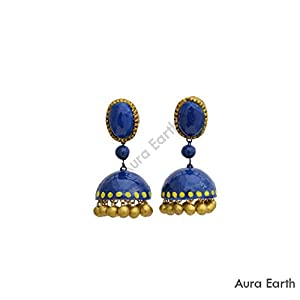 AUrA-EArTH Dotted Jhumkas