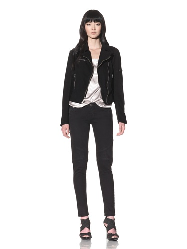 Dylan George Women's Cara Moto Jeans (Coal Black)