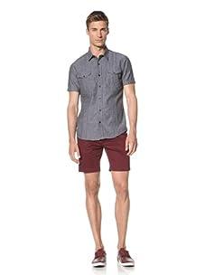 Dorsia Men's Wade Short Sleeve Shirt (Navy Chambray)