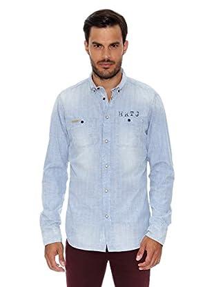 Pepe Jeans London Camisa Hombre Chard (Azul Claro)