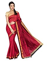 Korni Cotton Silk Banarasi Saree DS-1530- Maroon KR0475
