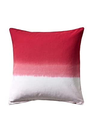Nine Space Dip-Dye Decorative Pillow Cover, Red
