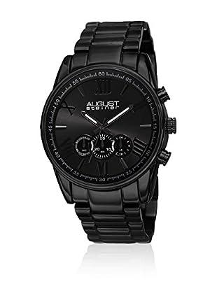 August Steiner Uhr mit Miyota Uhrwerk Man AS8163BK schwarz 46 mm