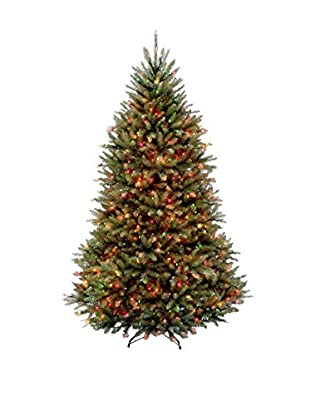 National Tree Company 7.5' Dunhill Fir Hinged Tree with Lights