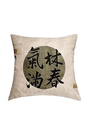 JAPAN MANIA by MANIFATTURE COTONIERE Abwaschbares Kissen Kyoto Tales