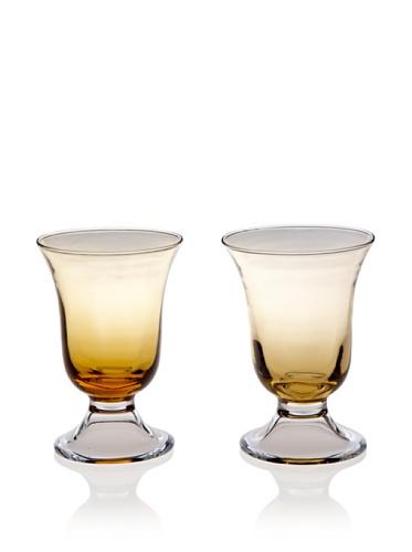 Villa d'Este Set of 2 Stem Water Glass (Amber)