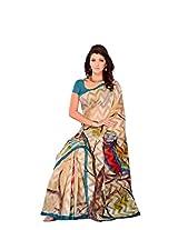 Diva Fashion-Surat Women's Brasso Enchanting Party/Festival Wear Multi Color Saree 241B