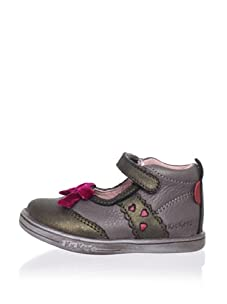 Kickers Kid's Taline Shoe (Infant) (Khaki/Fuchsia)